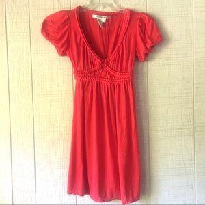 {Max Studio} Coral Embellished Cotton Dress